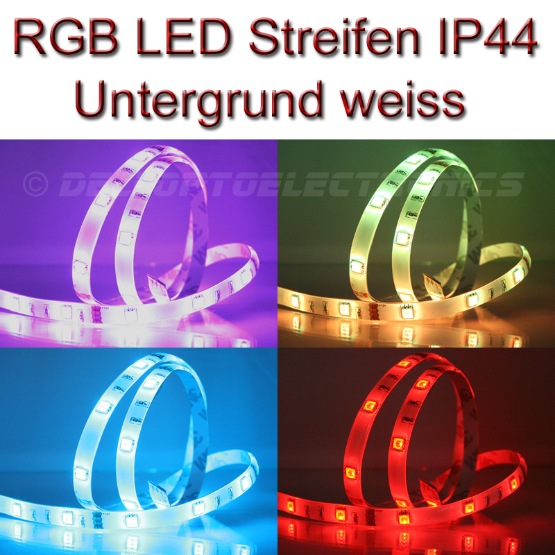 led strip streifen wasserdicht ip44 rgb mehrfarbig bunt mit 30x 5050leds m ebay. Black Bedroom Furniture Sets. Home Design Ideas