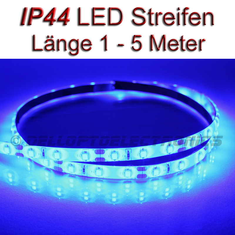 led streifen strip wasserdicht ip44 blau mit 3528smd leds. Black Bedroom Furniture Sets. Home Design Ideas