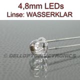 4,8mm 120° LEDs WARMWEISS 5 Lumen / 1500mcd