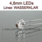4,8mm 120° LEDs ROT 5 Lumen / 1600mcd