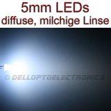 5mm LEDs WEISS DIFFUS 1,9 Lumen
