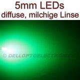 5mm LEDs GRÜN DIFFUS 1,9 Lumen