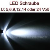 5 Stück LED Schrauben WEISS