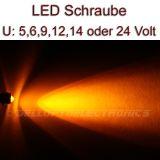 5 Stück LED Schrauben GELB