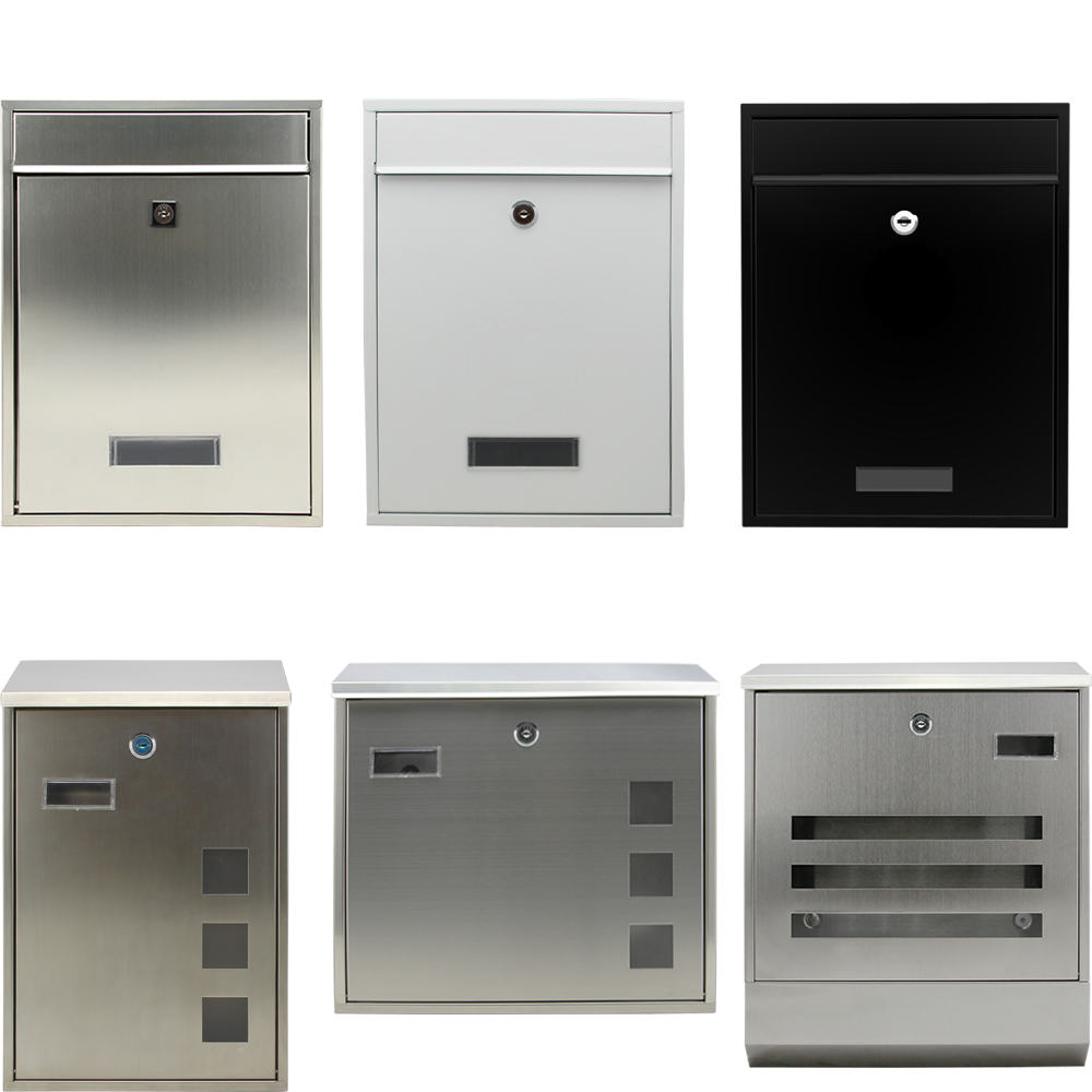 edelstahl briefkasten anlage wandbriefkasten zeitungsrolle postkasten mailbox. Black Bedroom Furniture Sets. Home Design Ideas