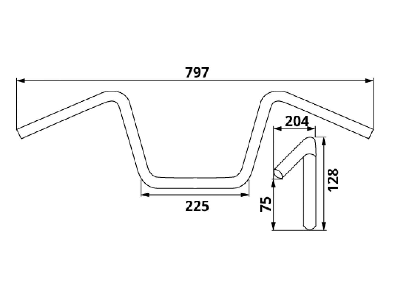 Trw lucas 797mm 22mm aluminiumlenker moto cross hoch for Yamaha ns 40