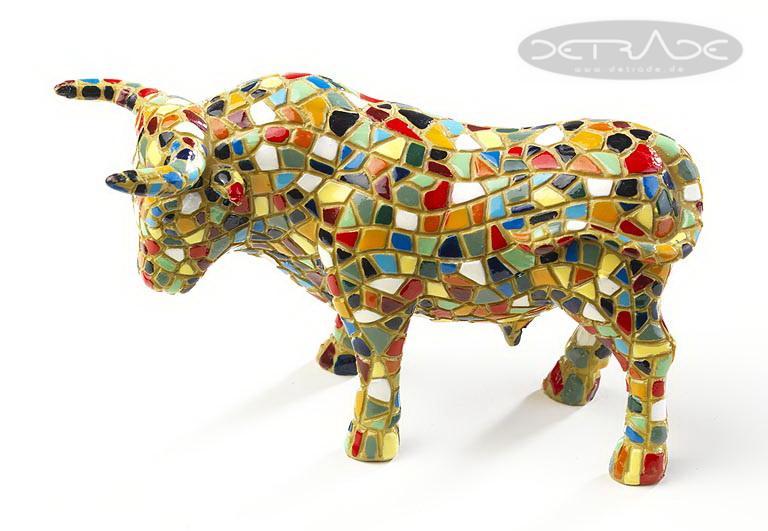 Deko stier mit mosaik aus polyresin dekoration - Dekoration mosaik ...