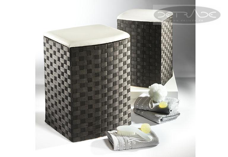 w schebeh lter schwarz halbrund nylon 2er set w schekorb. Black Bedroom Furniture Sets. Home Design Ideas