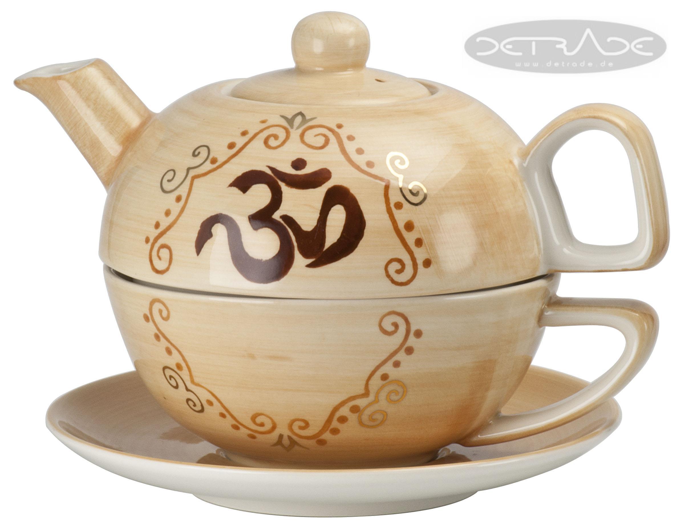 india tea for one set teeservice teekanne teetasse porzellan. Black Bedroom Furniture Sets. Home Design Ideas