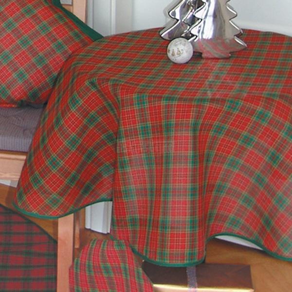 raebel decke weihnachten rot gr n kariert tischdecke tischl ufer 130cm. Black Bedroom Furniture Sets. Home Design Ideas