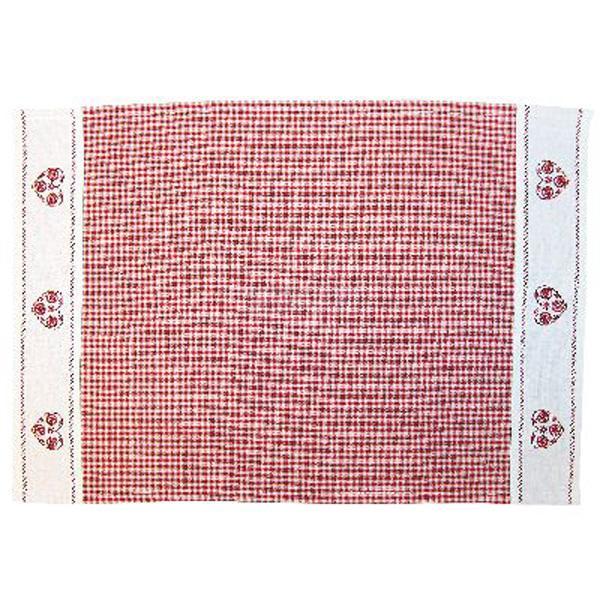 raebel tischdecke rot wei kariert stickerei herz. Black Bedroom Furniture Sets. Home Design Ideas