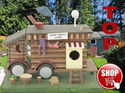 vogelhaus nistkasten futterhaus wohnwagen ebay. Black Bedroom Furniture Sets. Home Design Ideas