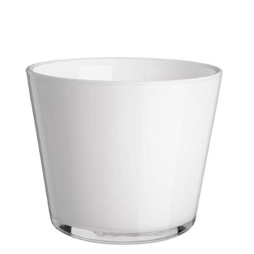 4x bertopf aus glas wei xh 7 5x7 5 cm ebay. Black Bedroom Furniture Sets. Home Design Ideas