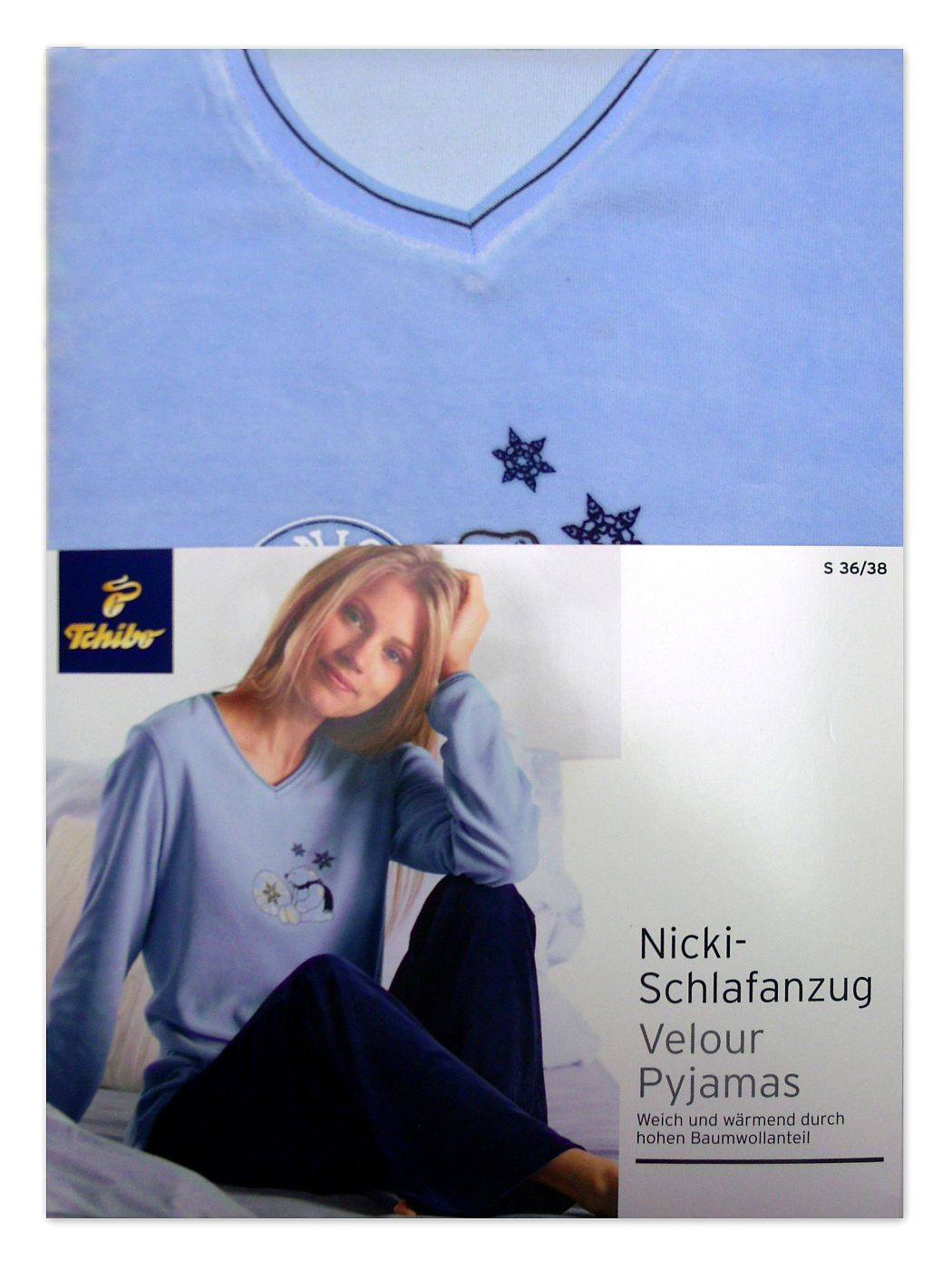 tcm tchibo damen nicki pyjama schlafanzug 36 38 s 40 42 m. Black Bedroom Furniture Sets. Home Design Ideas