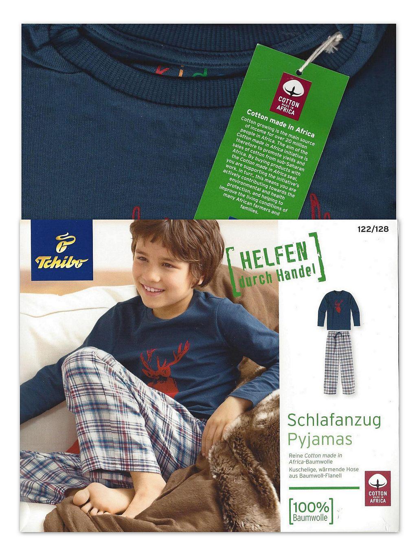 tcm tchibo jungen schlafanzug pyjama baumwoll flanell 122. Black Bedroom Furniture Sets. Home Design Ideas