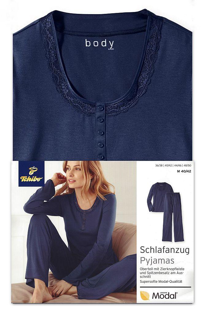 tcm tchibo damen schlafanzug pyjama softe modal qualit t. Black Bedroom Furniture Sets. Home Design Ideas