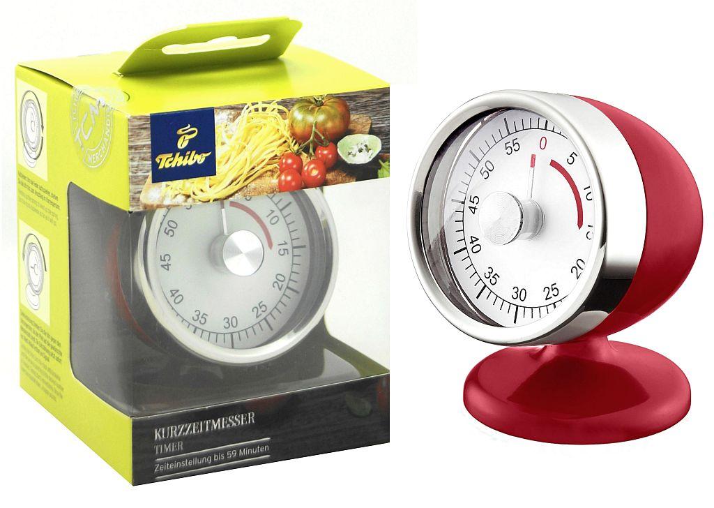 TCM Tchibo Kurzzeitmesser im Retrolook Küchentimer Eieruhr Timer 59 Min Rot eBay