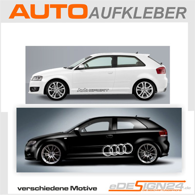 e67 audi rings sline quattro sticker car sticker a3 ebay. Black Bedroom Furniture Sets. Home Design Ideas