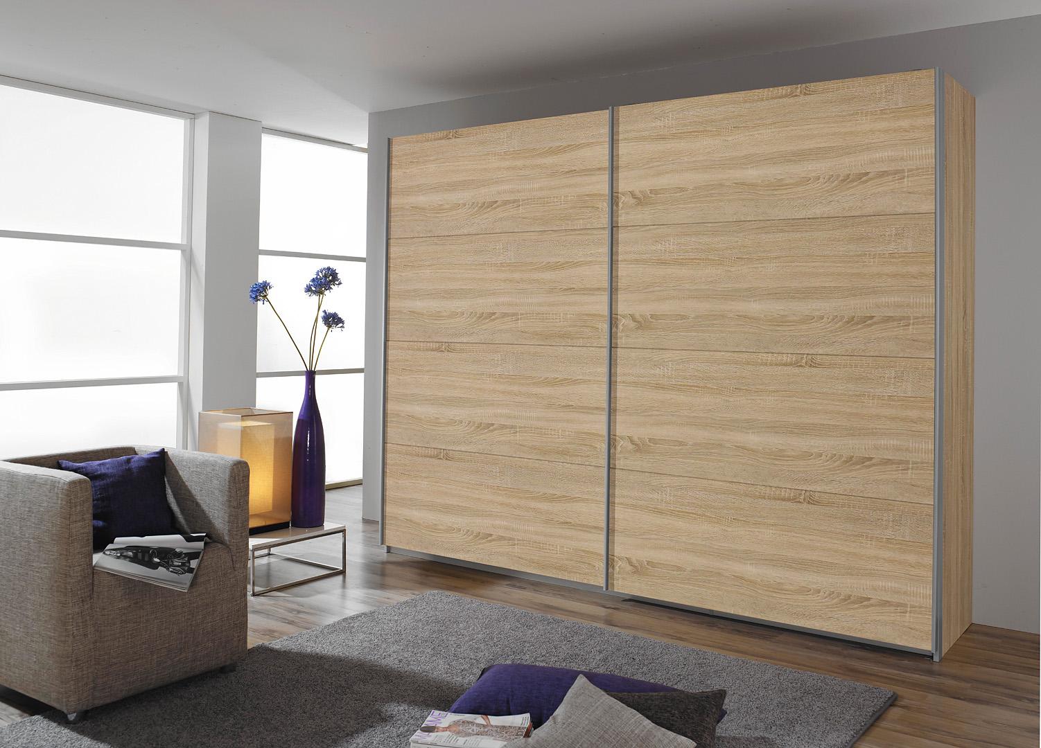 rauch schwebet renschrank quadra unifarben 5 breiten ebay. Black Bedroom Furniture Sets. Home Design Ideas