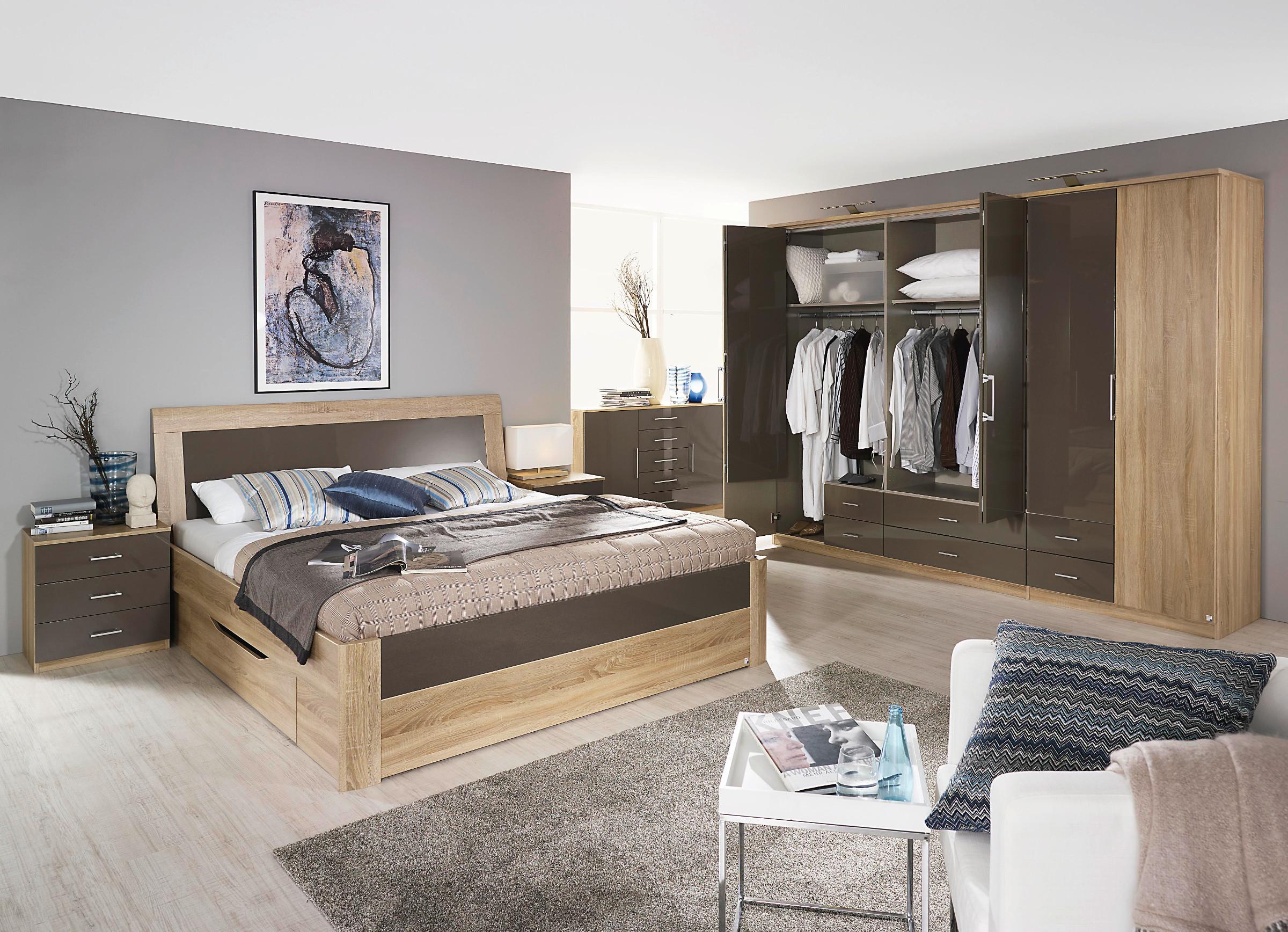 rauch schlafzimmer komplettangebot arona hochglanz ebay. Black Bedroom Furniture Sets. Home Design Ideas