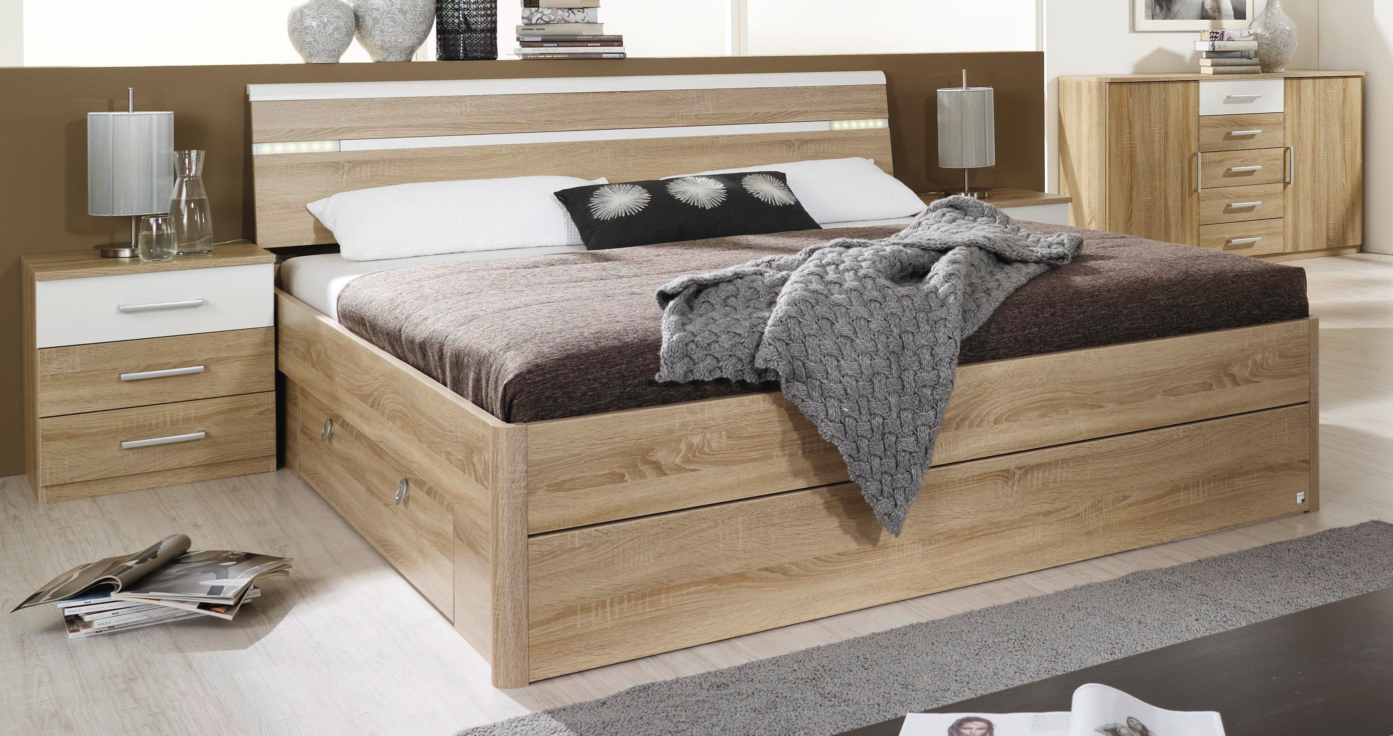 rauch komfortbett mit schubk sten rasa 4 bettgr en w hlbar. Black Bedroom Furniture Sets. Home Design Ideas