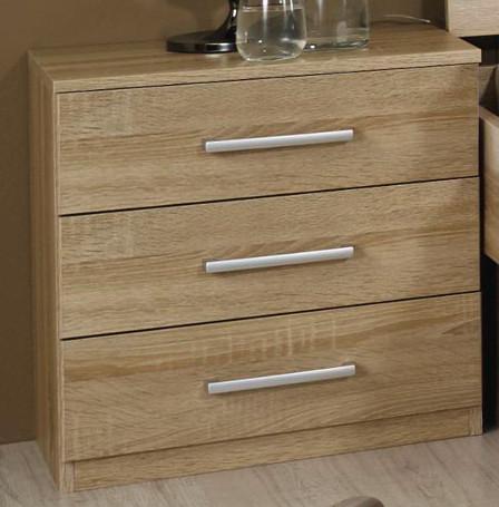rauch nachtkommode rasa 3 schubk sten nachttisch konsole eiche wei buche ebay. Black Bedroom Furniture Sets. Home Design Ideas