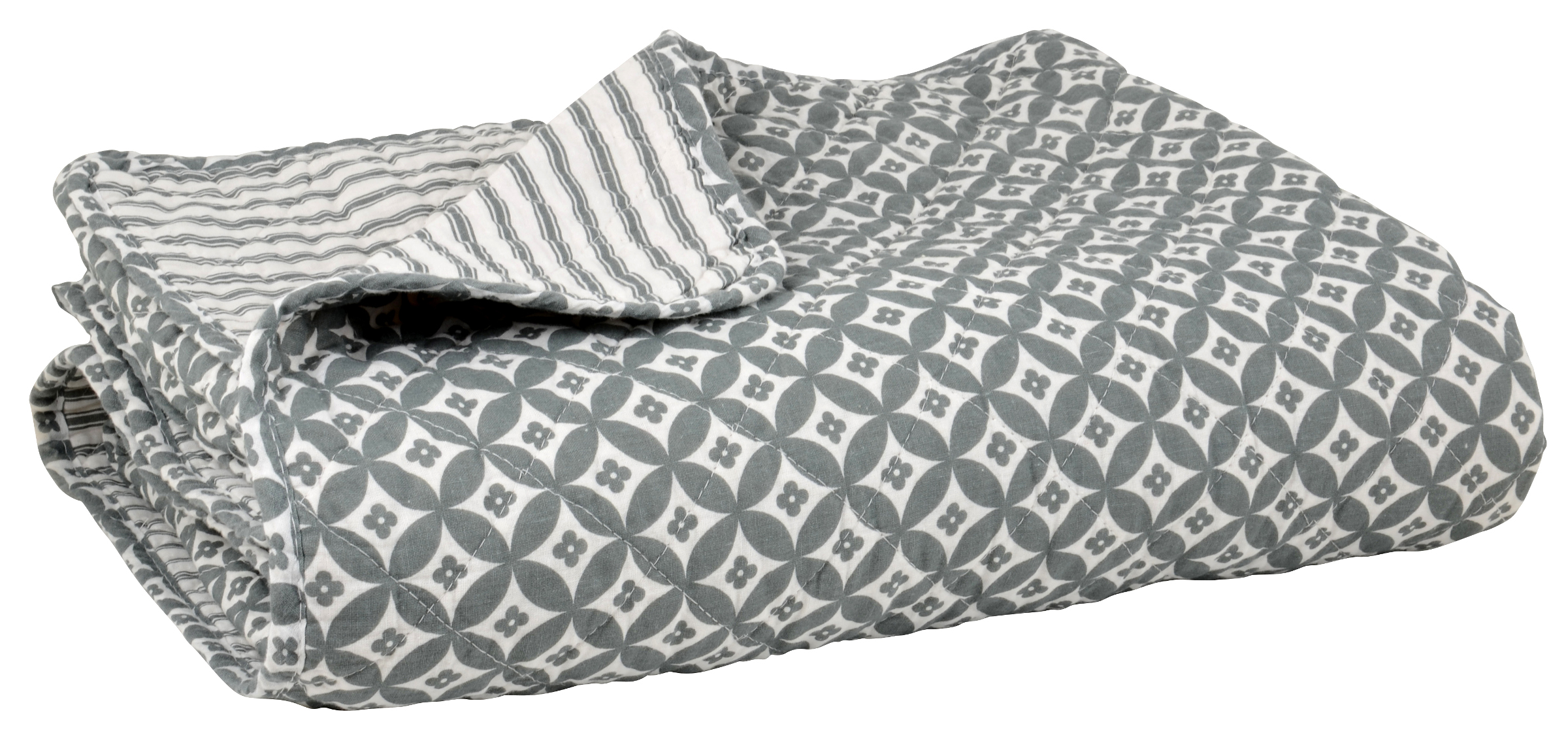ib laursen tagesdecke esther grau 130 x 180 cm quilt. Black Bedroom Furniture Sets. Home Design Ideas