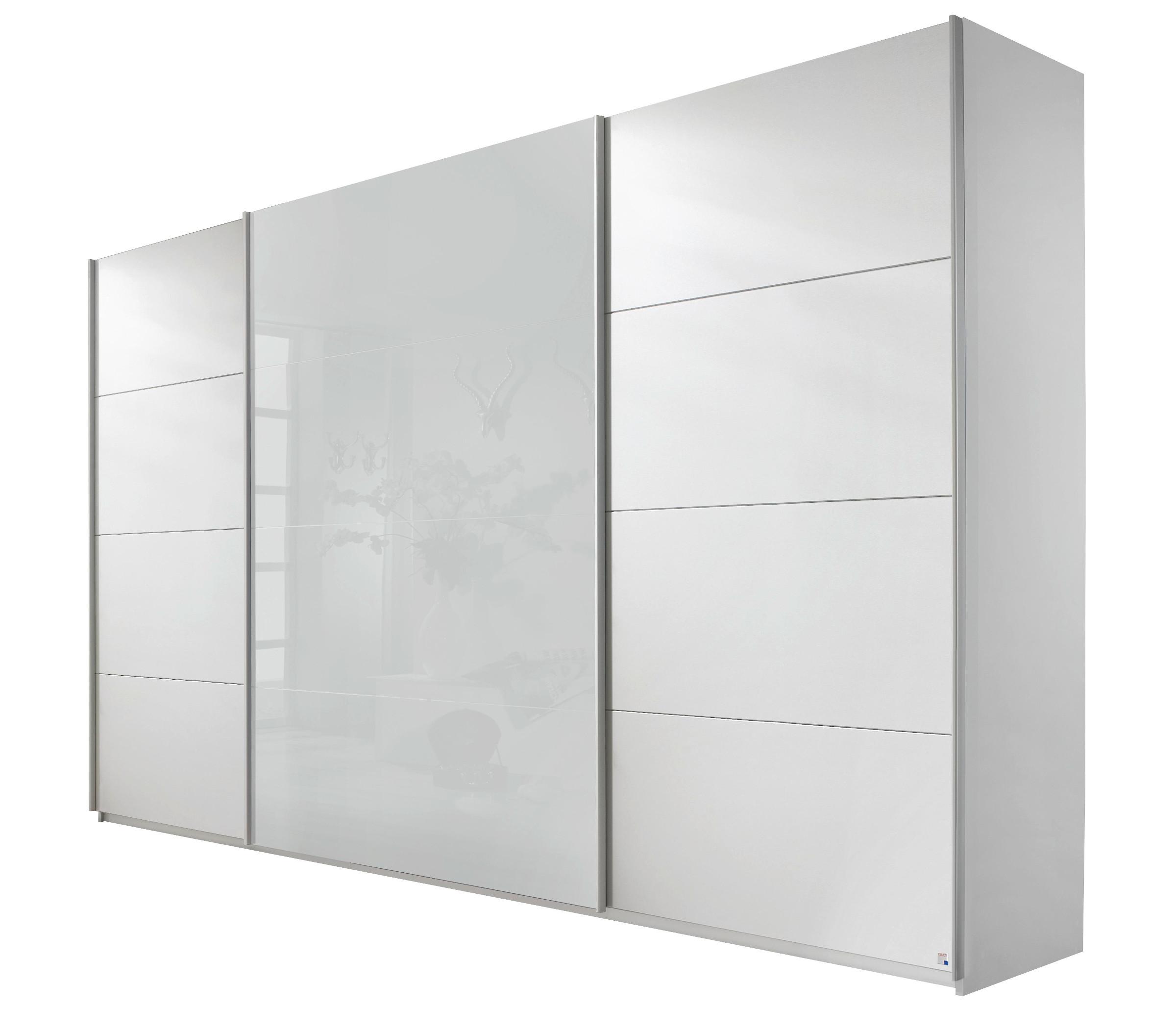 rauch schwebet renschrank quadra alpinwei glas wei 5 breiten 2 h hen ebay. Black Bedroom Furniture Sets. Home Design Ideas