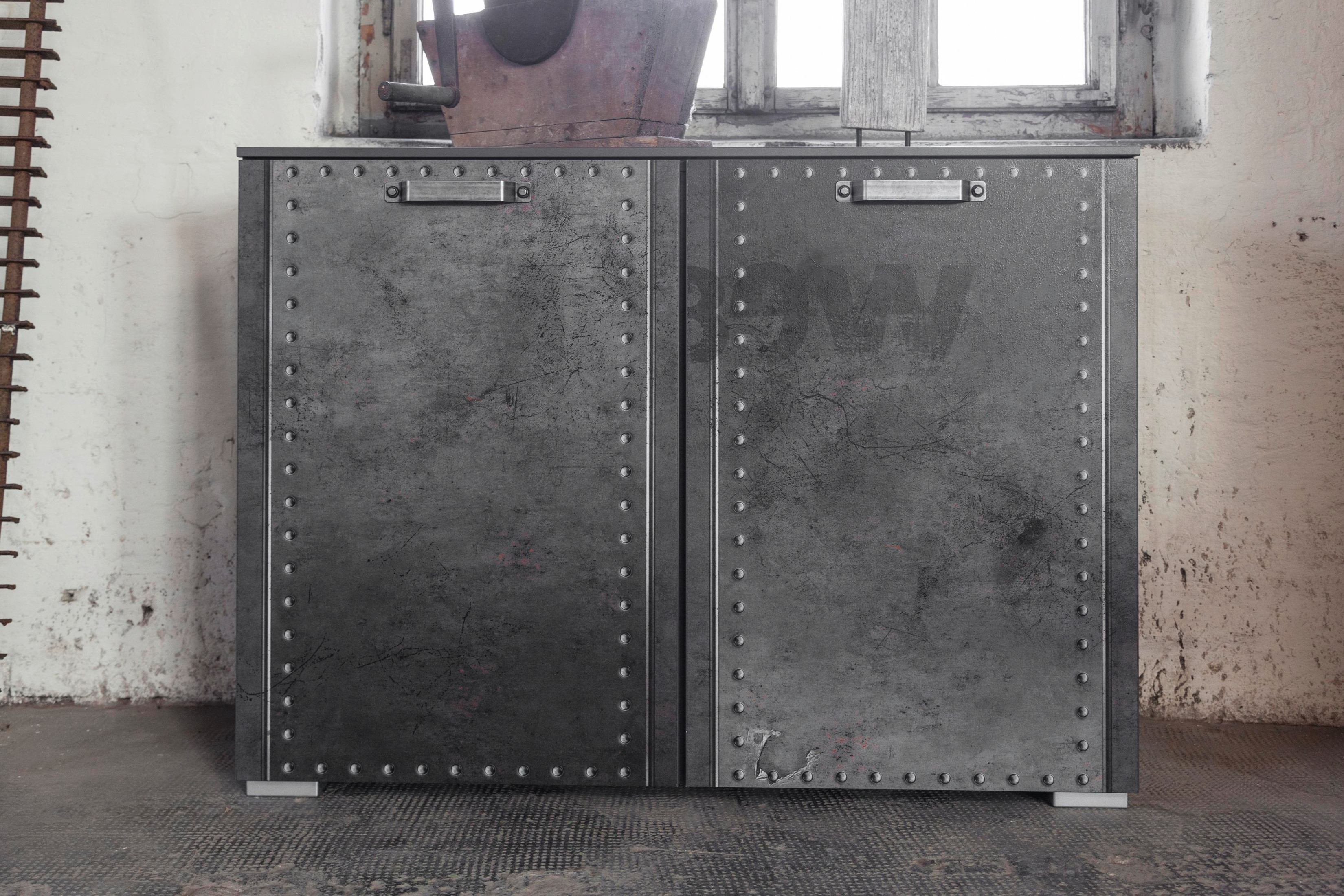 rauch select kommode mit 2 t ren workbase industrielook t renkommode vintage ebay. Black Bedroom Furniture Sets. Home Design Ideas