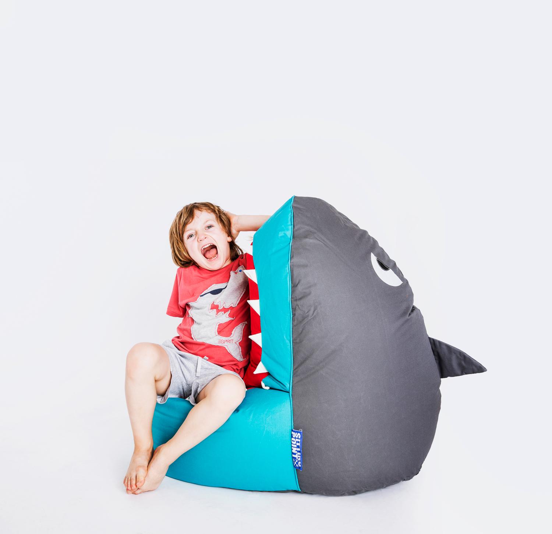 magma sitting point sitzsack kinder shark brava hai sitzkissen. Black Bedroom Furniture Sets. Home Design Ideas