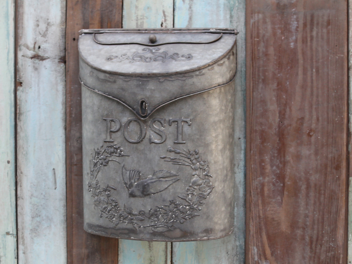 chic antique nostalgischer briefkasten zink shabby postkasten ebay. Black Bedroom Furniture Sets. Home Design Ideas