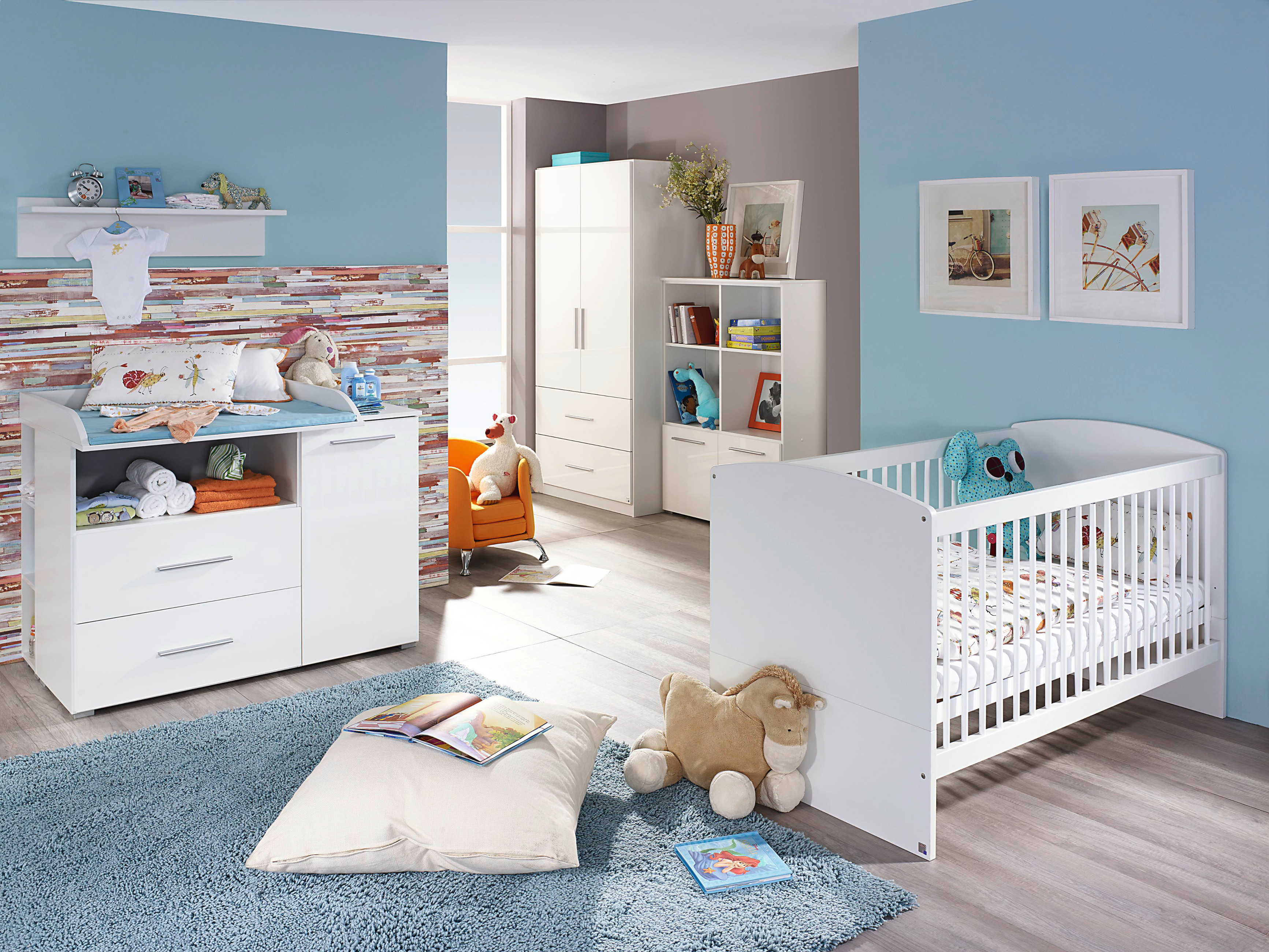 rauch babyzimmer komplettangebot 7 teilig alpinwei hochglanz wei ebay. Black Bedroom Furniture Sets. Home Design Ideas