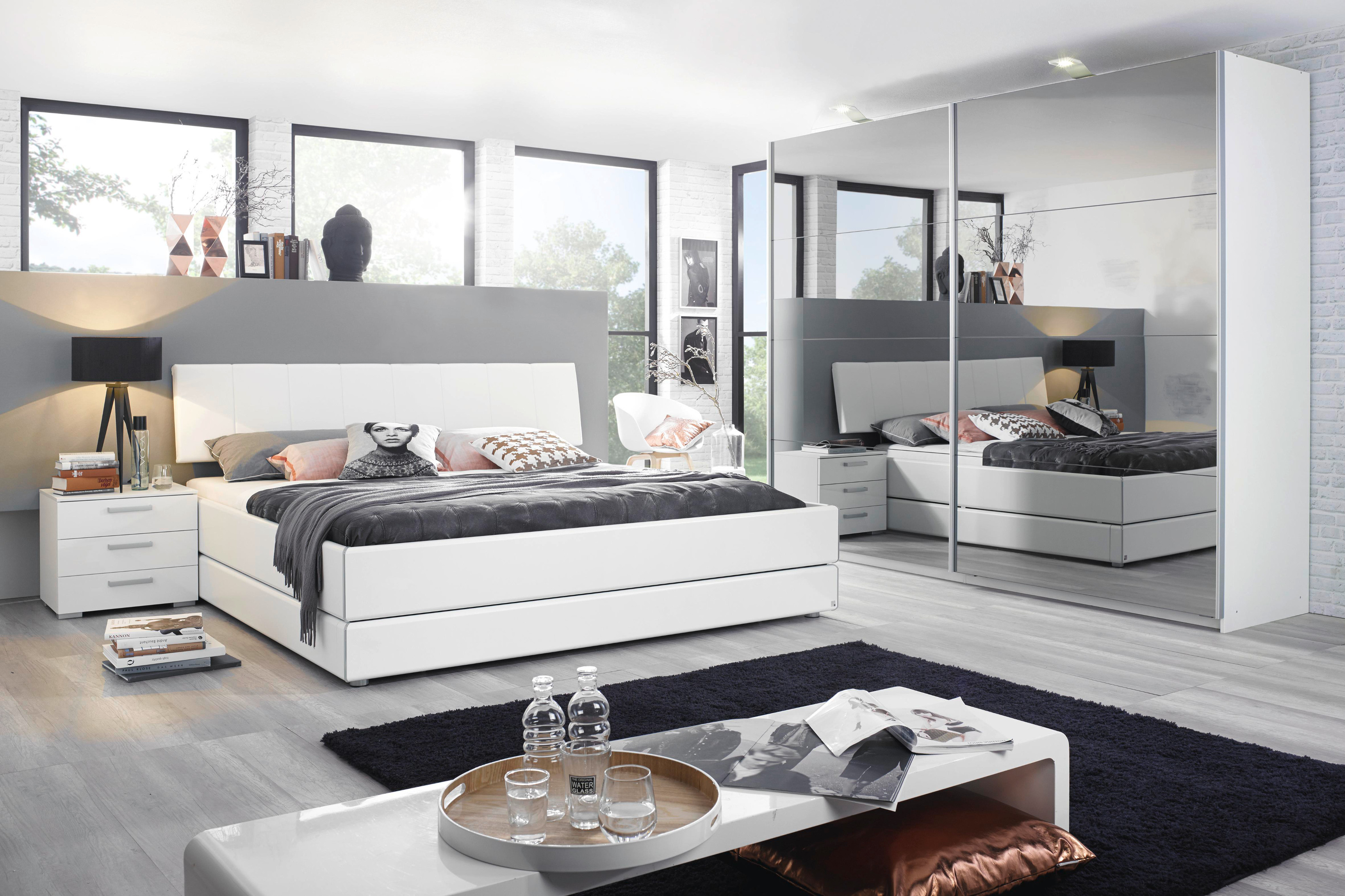 rauch select bettgestell mavi base bettkasten alpinwei kopfteil lederoptik ebay. Black Bedroom Furniture Sets. Home Design Ideas