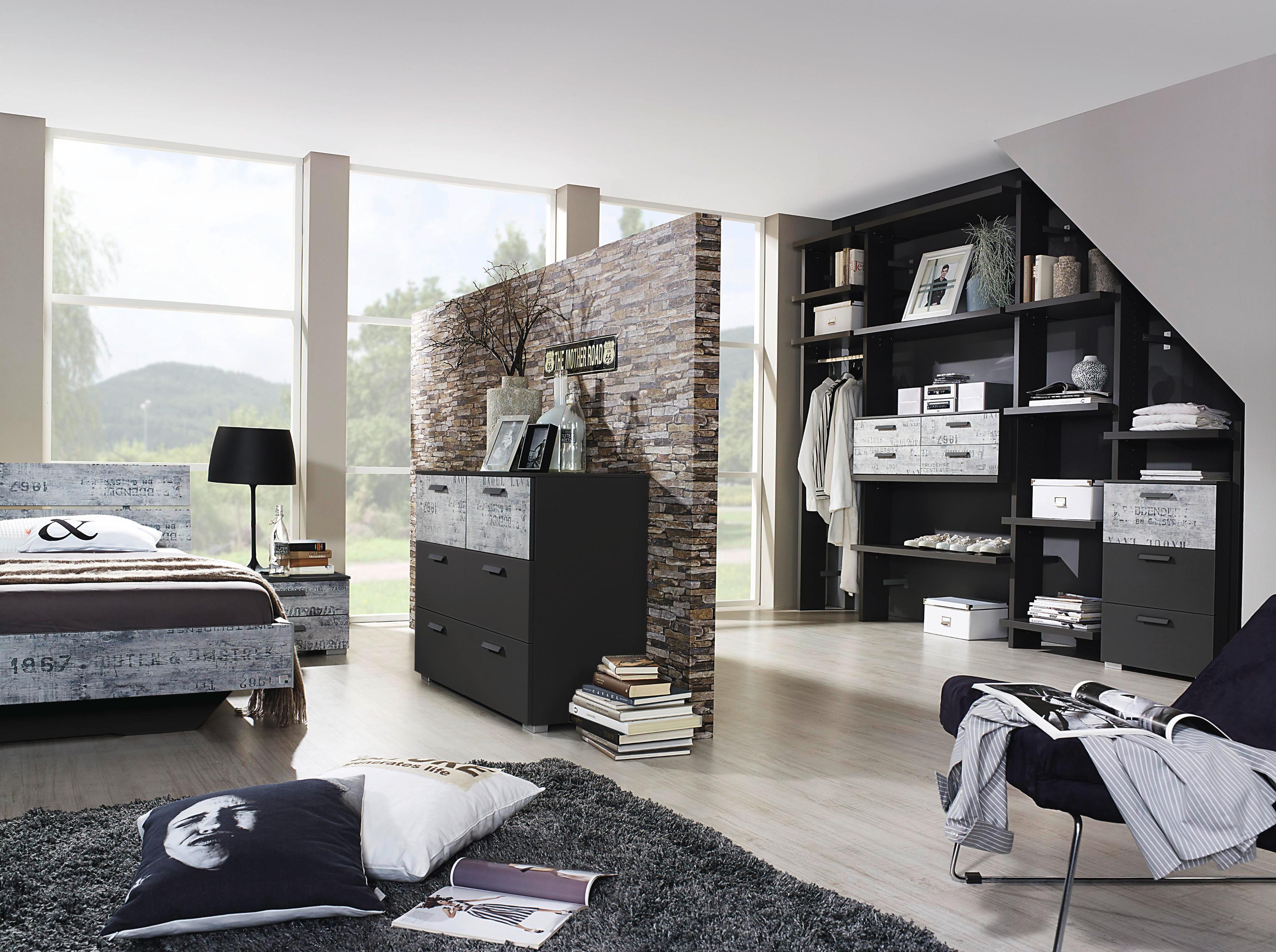 rauch select schwebet renschrank vintage optik grau spiegel 3 breiten 2 farben ebay. Black Bedroom Furniture Sets. Home Design Ideas