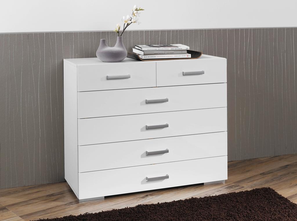 rauch schubkastenkommode tira hochglanz wei ebay. Black Bedroom Furniture Sets. Home Design Ideas