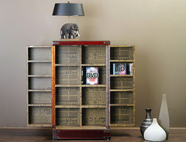 dvd schrank chinesischer cd dvd schrank dunkel rot rot. Black Bedroom Furniture Sets. Home Design Ideas
