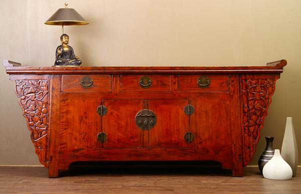 antikes chinesisches sideboard china altarschrank 220cm. Black Bedroom Furniture Sets. Home Design Ideas