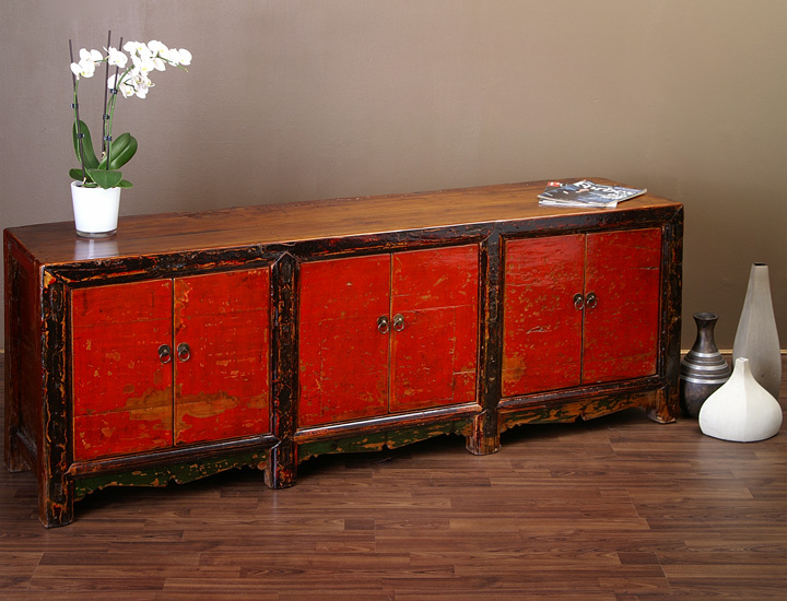 antikes chinesisches lowboard sideboard china rot beijing