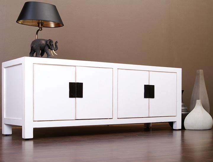 Chinesisches Lowboard Sideboard weiß 120cm TV Board China Möbel