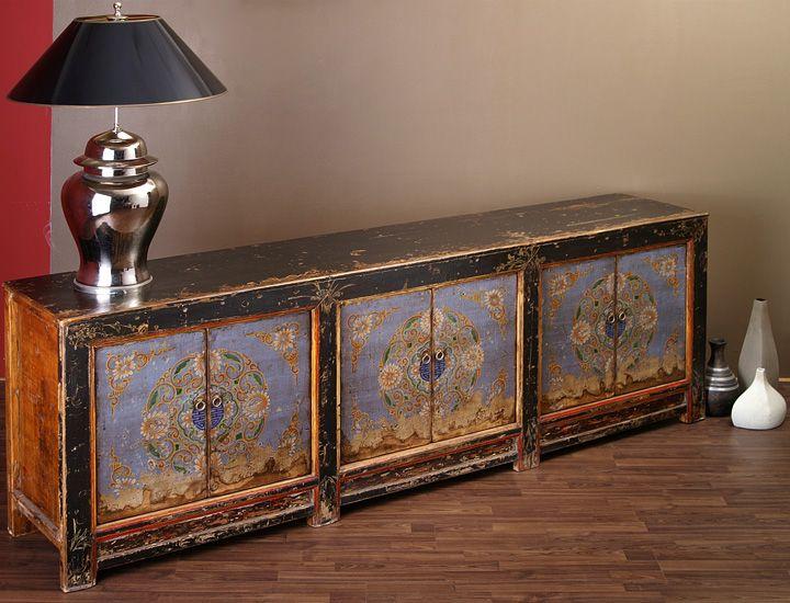 antikes chinesisches sideboard buffet wohnzimmer. Black Bedroom Furniture Sets. Home Design Ideas