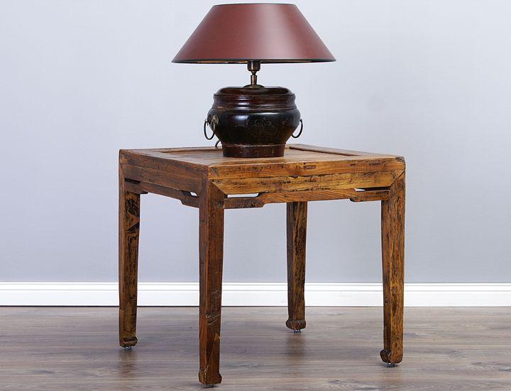 Antiker chinesischer beistelltisch bambus tisch nachttisch for Couchtisch bambus