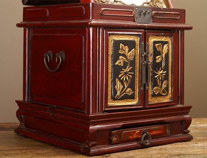 antike chinesische spiegel schmuckschatulle. Black Bedroom Furniture Sets. Home Design Ideas