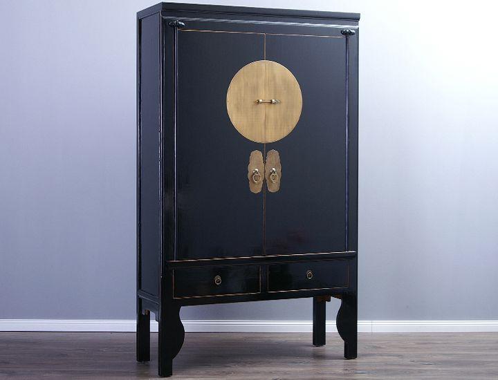 schrank hochzeitsschrank 40cm tief schwarz china aktenschrank kleiderschrank ebay. Black Bedroom Furniture Sets. Home Design Ideas