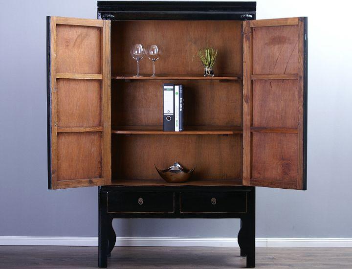 schrank hochzeitsschrank 40cm tief schwarz china. Black Bedroom Furniture Sets. Home Design Ideas