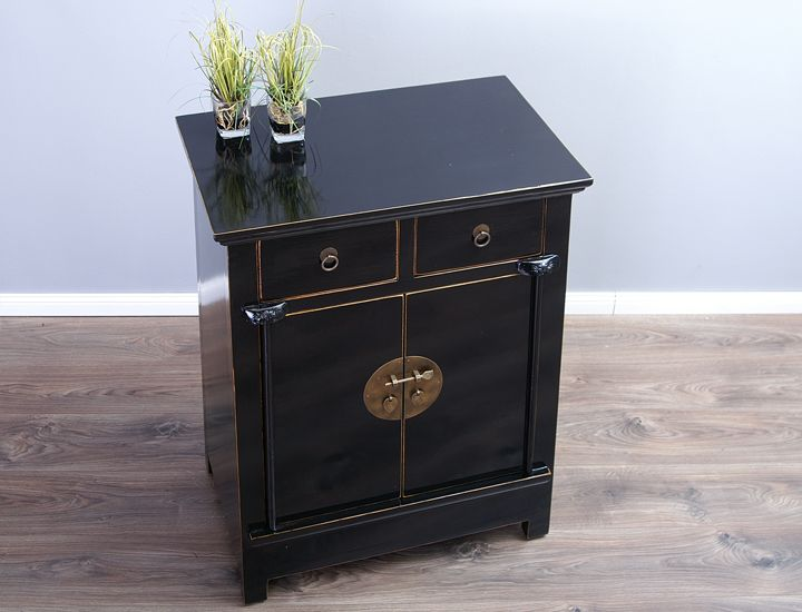 chinesische kommode schwarz 91cm hochzeitschrank china schrank 89e ebay. Black Bedroom Furniture Sets. Home Design Ideas