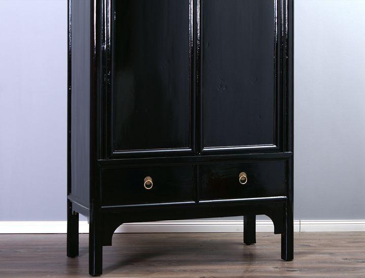 94 wohnzimmerschrank schwarz trendteam ds94502 for Schrankwand 4 meter