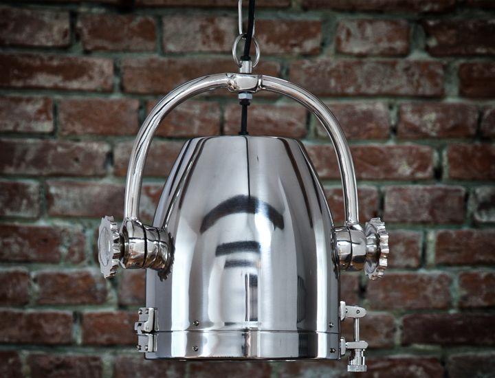 industriedesign h ngeleuchte nickel chrom lampe leuchte. Black Bedroom Furniture Sets. Home Design Ideas