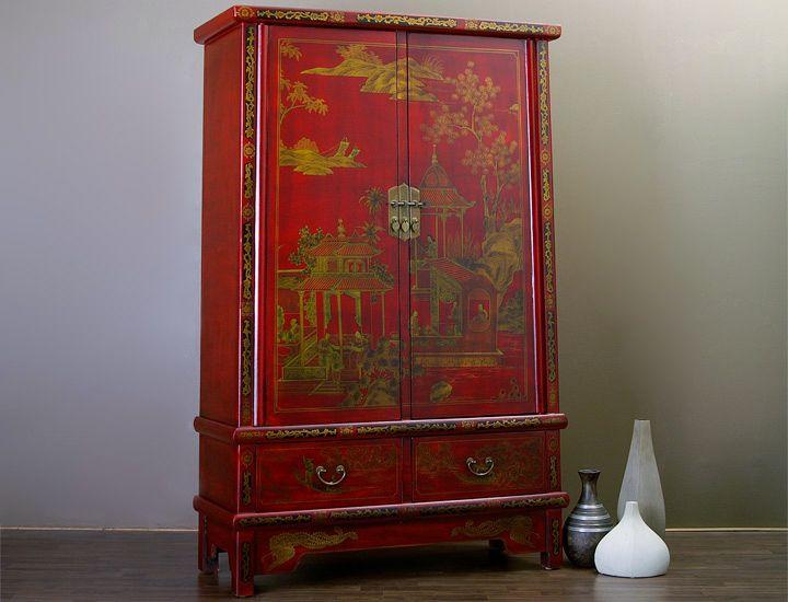 chinesischer schrank rot china wohnzimmer schlafzimmer k che esszimmer buffet ebay. Black Bedroom Furniture Sets. Home Design Ideas