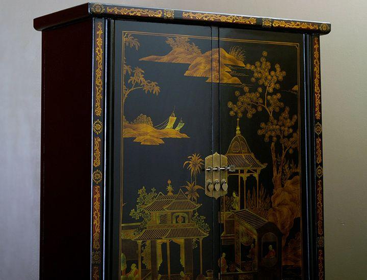 chinesischer schrank schwarz schlafzimmerschrank. Black Bedroom Furniture Sets. Home Design Ideas