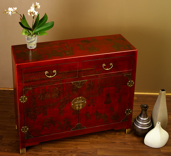 chinesisches sideboard china kommode rot hochzeitsschrank. Black Bedroom Furniture Sets. Home Design Ideas